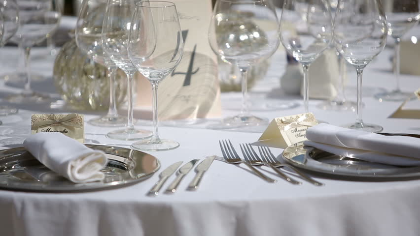 & Stock video of table setting in a restaurant | 8114368 | Shutterstock