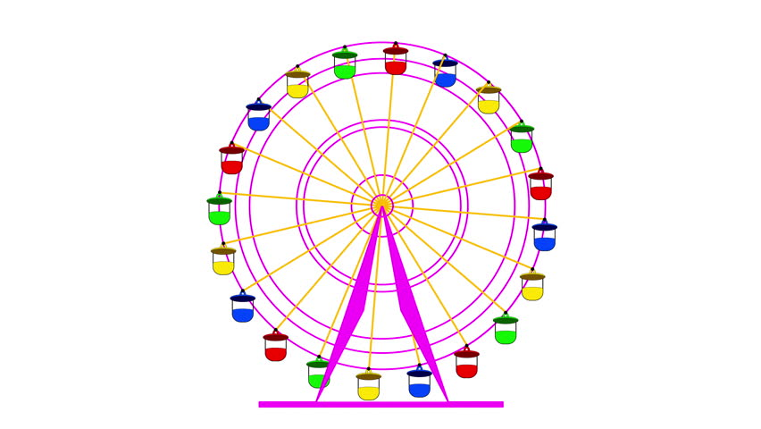 Clip 7988758 Stock Footage Colorful Ferris Wheel On A Green Screen Background K Animation on 16 X 24 Cabin Plans
