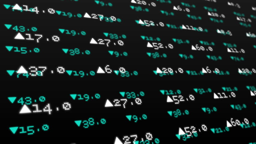 Digital animation of Stocks and shares on green background   Shutterstock HD Video #8143828