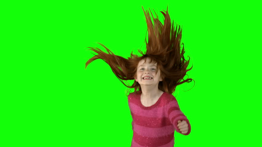Thanos Home Green Screen Hd 60 Fps: Stock Video Clip Of Little Girl Jumping In Slow Motion On