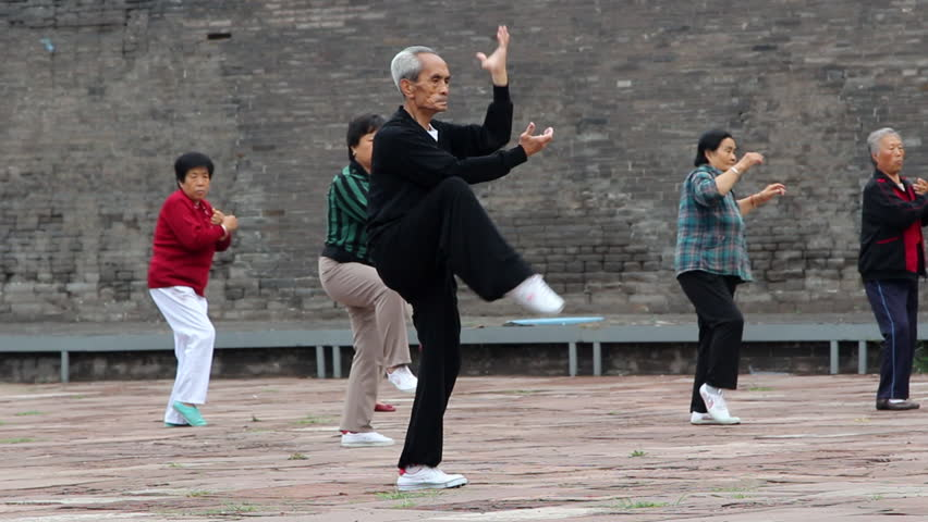 Image result for old man practicing tai chi