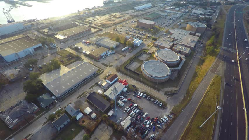 Aerial video Port Allen Louisiana