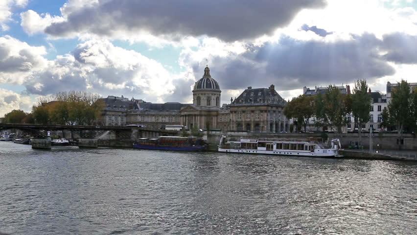 Paris France historical center river view | Shutterstock HD Video #8238028