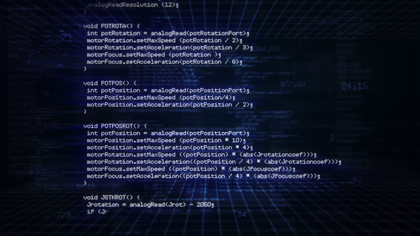 Computer code running in a virtual space. Dark Blue. Loopable. Locked.   MORE COLOR OPTIONS IN MY PORTFOLIO. | Shutterstock HD Video #8265748