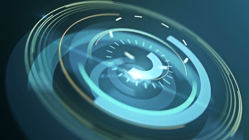 Abstract background with animated shapes and circles. HUD Infographic. Silver color. 4K. Loop animation. | Shutterstock HD Video #8281918