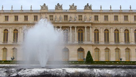 The Palace of Versailles and Fountain, France