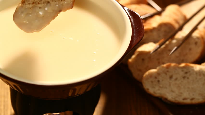 Cheese Fonduetraditional Swiss Food For Stock Footage Video 100