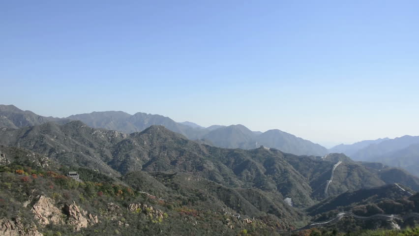 Great Wall at Badaling. People are climbing the Great Wall. Located in Beijing, China.   Shutterstock HD Video #8321698