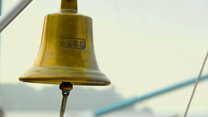 Ringing A Traditional Ship Bell Decoration Symbol