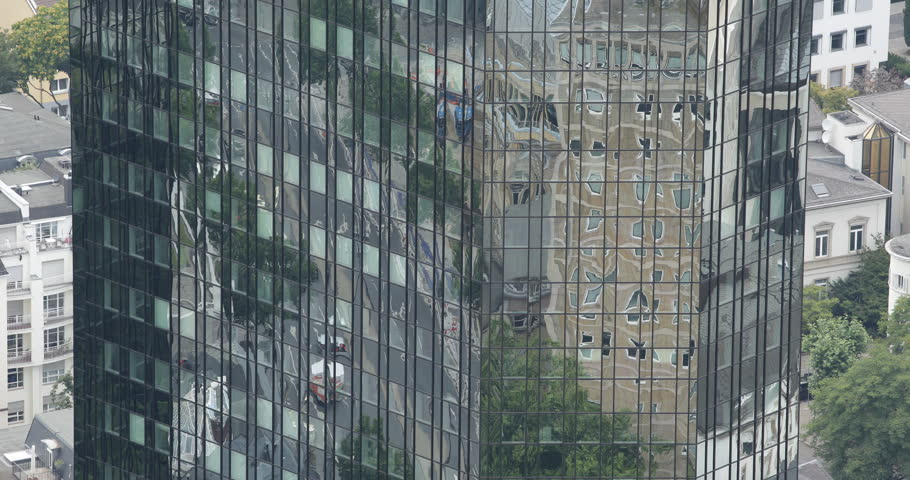 Frankfurt Skyscraper Corporate Tower Office Building Reflection Cars Traffic Day ( Ultra High Definition, UltraHD, Ultra HD, UHD, 4K, 2160P, 4096x2160 ) #8353198