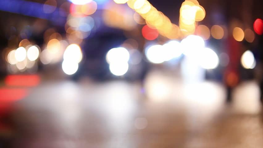 Night City Traffic   Shutterstock HD Video #8400868