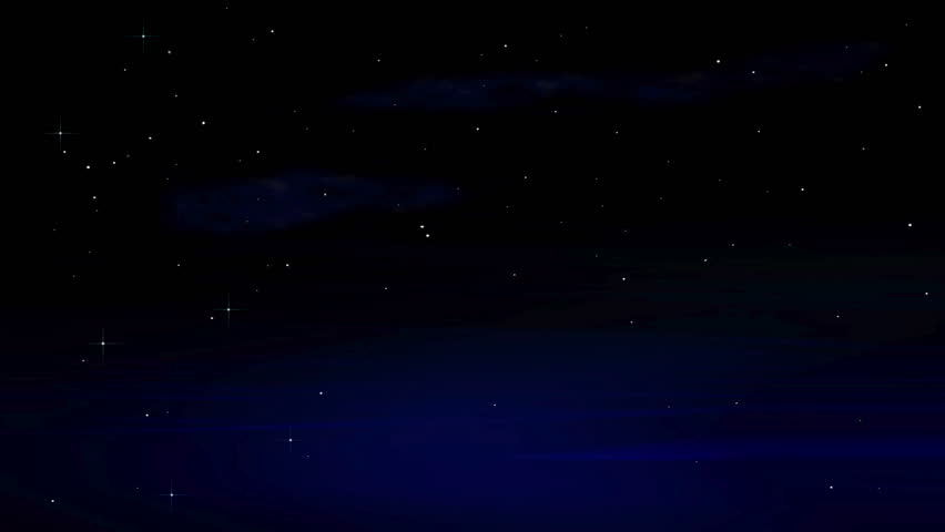 star field animated background of a fantasy night sky with
