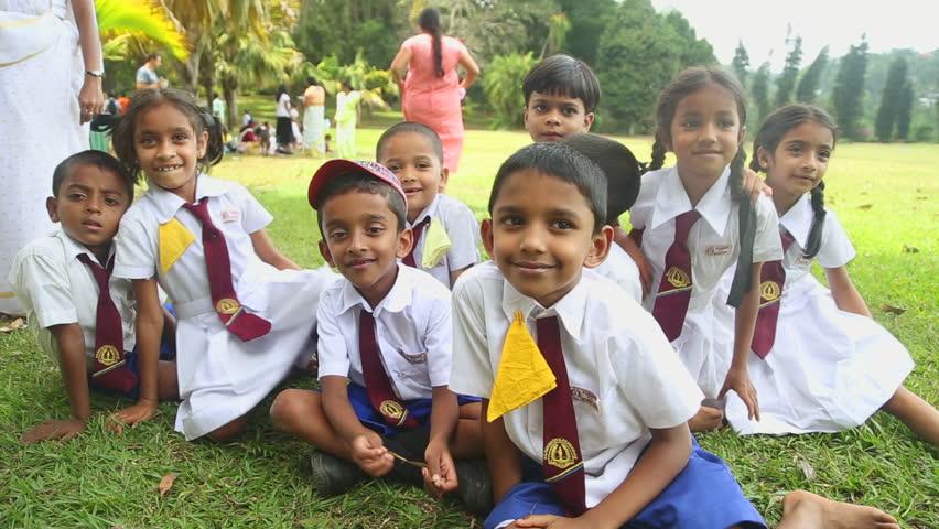 KANDY, SRI LANKA - FEBRUARY 2014: Portrait Of Sri Lankan