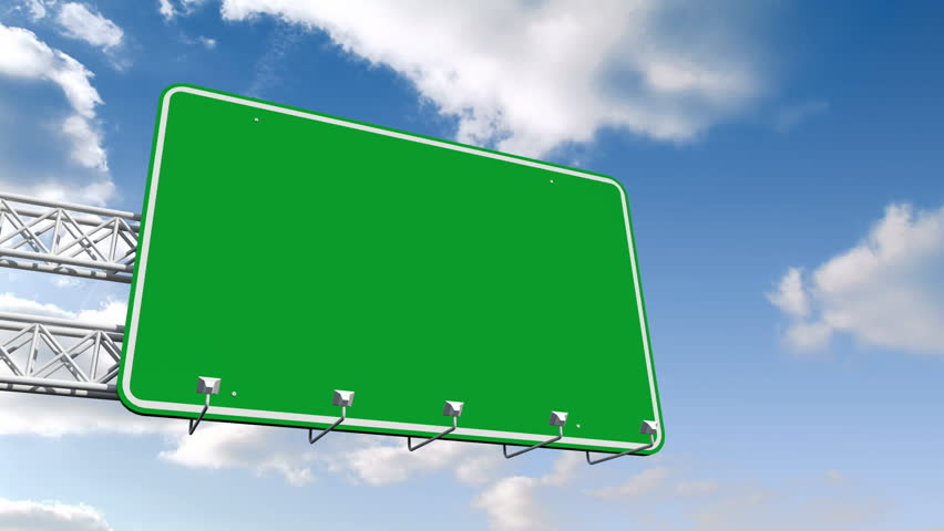 Blank Time Lapse Road Sign. Stock Footage Video 912952 ...