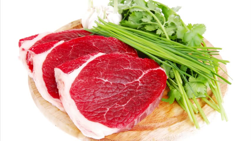 Fresh Meat : Raw Uncooked Stock Footage Video (100% Royalty-free) 8439328 |  Shutterstock