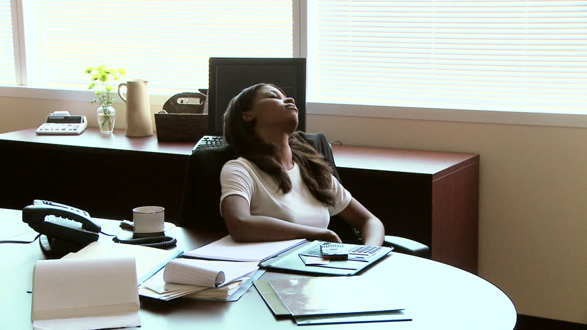 Businessman Sleeping While Colleagues Are Working In A -9354