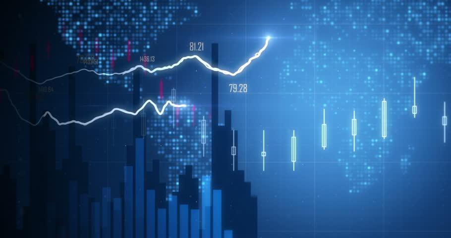 Positive Financial chart In 4K | Shutterstock HD Video #8479708