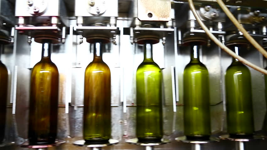 Bottling production line: filling up with wine. #8481208