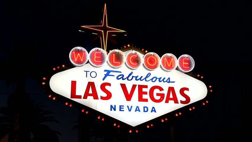 Welcome to Fabulous Las Vegas Nevada sign at night. | Shutterstock HD Video #848857