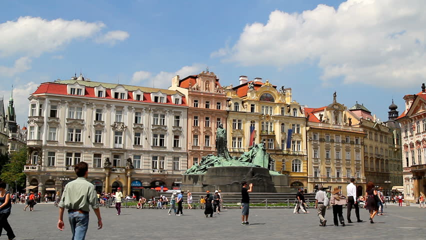PRAGUE - June 6, 2010: Old Town Square is a historic square in the Old Town quarter of Prague in the Czech Republic. The Old Town Square (Staromestske) is one of two main squares in the city center photographed on June 6, 2010.