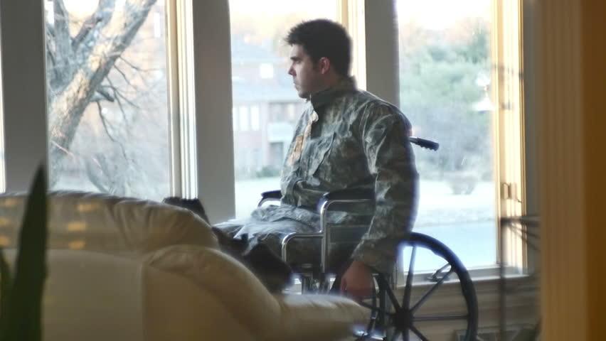 Header of veteran