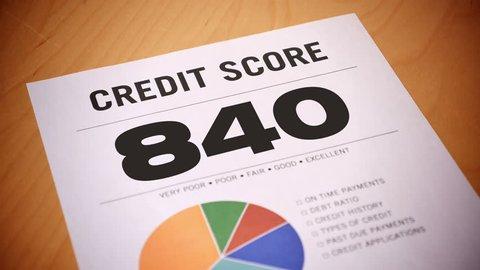 A fictional credit report counts down.