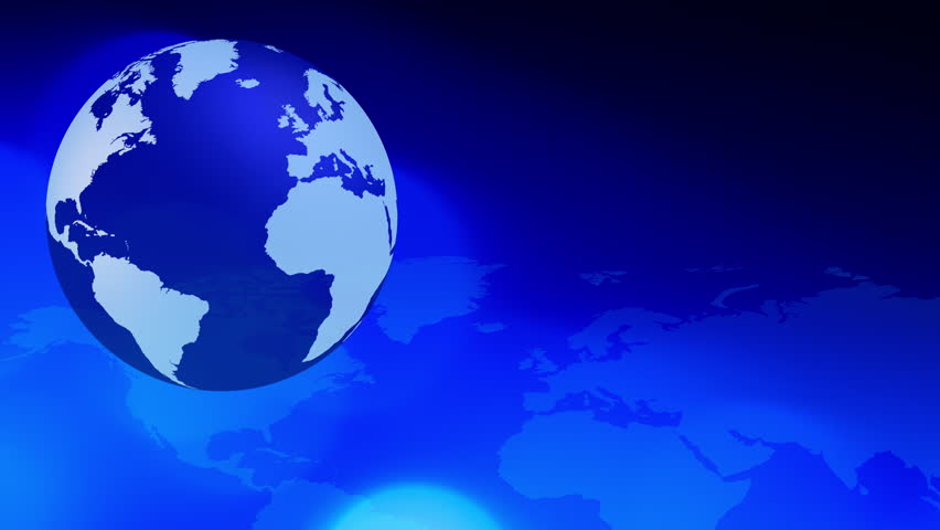 Dark blue world map and planet earth global motion background dark blue world map and planet earth global motion background international business world presentation intro or breaking news backgrounds concept sciox Image collections