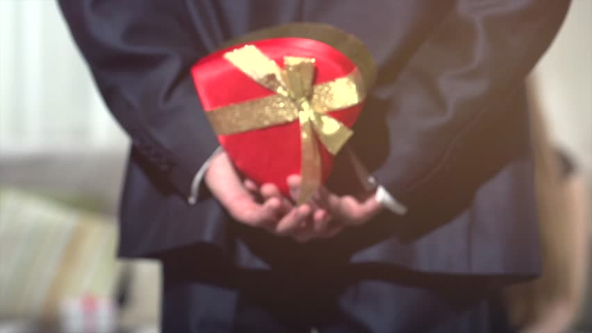 Valentines Day Gift Yong Man Stock Footage Video 100 Royalty Free