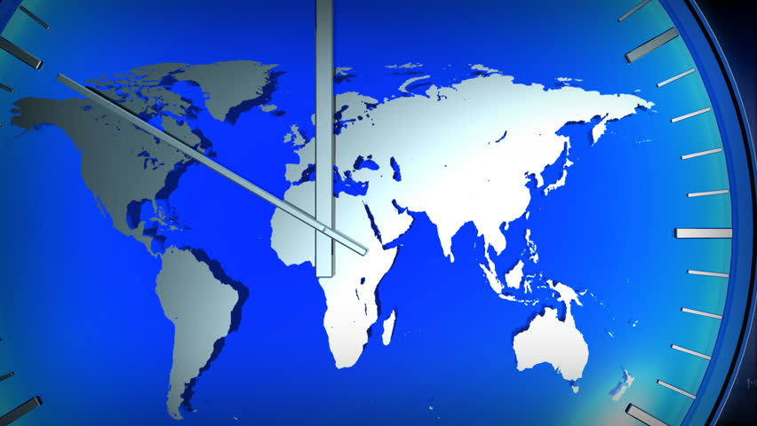 Computer rendered animation for world news or current events with computer rendered animation for world news or current events with blue clock and world map stock footage video 862258 shutterstock gumiabroncs Image collections