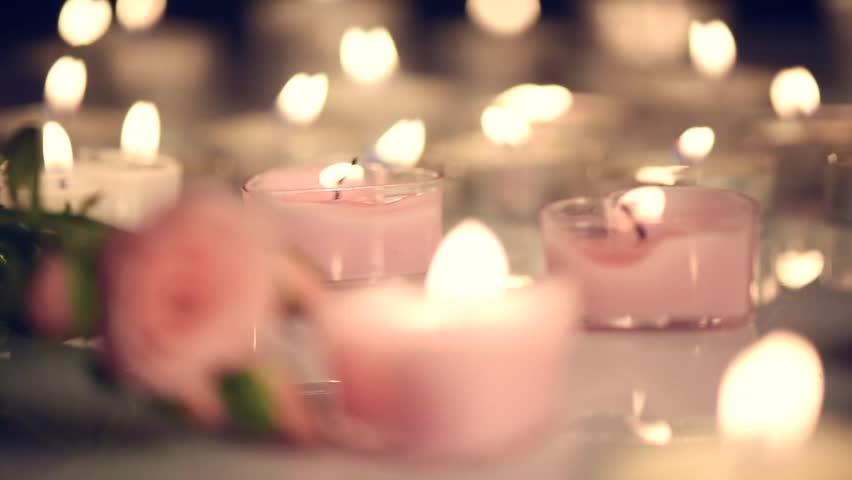 Candles Lights - Love Heart Stock Footage Video 9140009 | Shutterstock