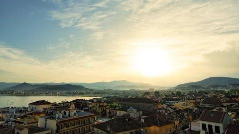 Sunrise in Nafplio, Greece