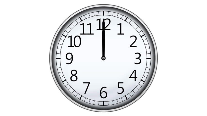 moving clock animation. animated clock counting down 12 hours seamless loop animation stock footage video 8653588 shutterstock moving p