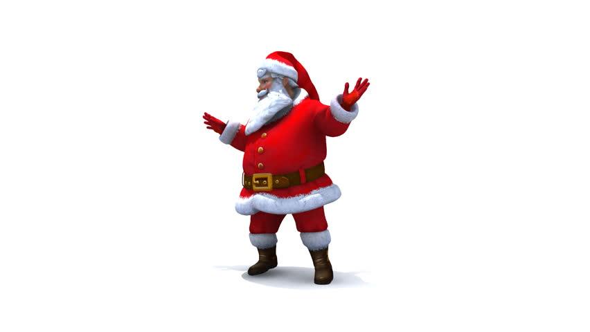 Santa dancing loop, comes with Alpha. #869746