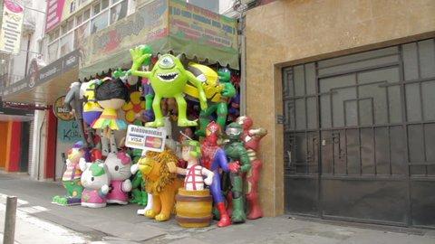 MEXICO CITY - CIRCA 2014 A big piñata store in Mexico City
