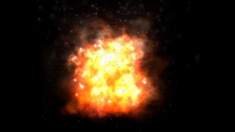 Air Explosion on black background