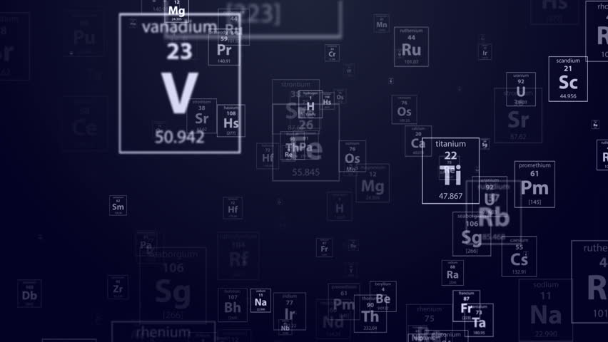 3d render the camera fly through periodic table of elements on dark flying thought the periodical chemical elements on the dark blue background 4k stock footage clip urtaz Choice Image