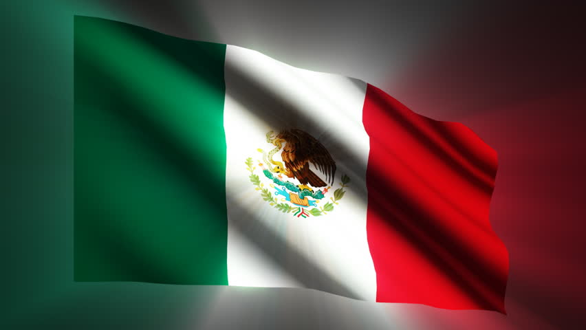Mexican shining waving flag - loop