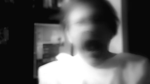 Sickness Crazy man in white straitjacket 1920x1080 full hd footage