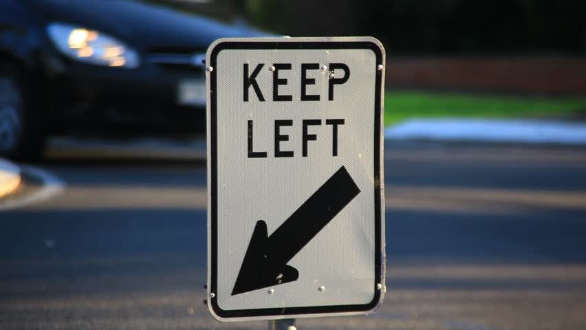 "Traffic sign""Keep Left"""
