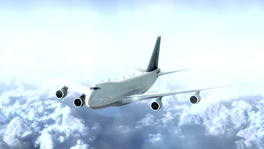 Plane flight against clouds | Shutterstock HD Video #8860828