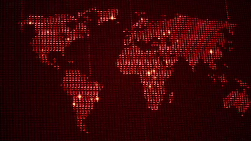 Digital world map in led screen with light dots loop animation digital world map in led screen with light dots loop animation different colors in gumiabroncs Gallery