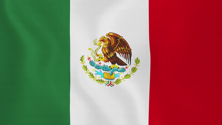 Mexico Flag. Background Seamless Looping Animation. 4K ...