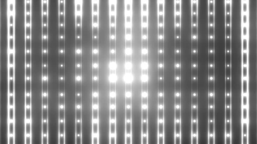 Flood lights disco background with vertical lines and strips. Flood lights flashing.  Silver tint on black background. Seamless loop. look more options and sets footage  in my portfolio