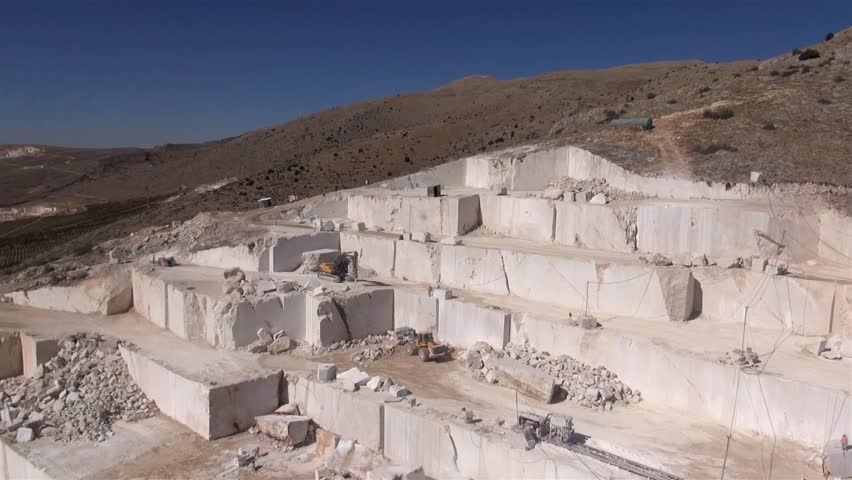 Aerial Shots of a Marble Quarry