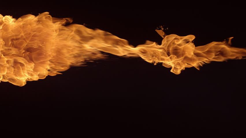 Flame thrower in slow motion; shot on Phantom Flex 4K at 1000 fps