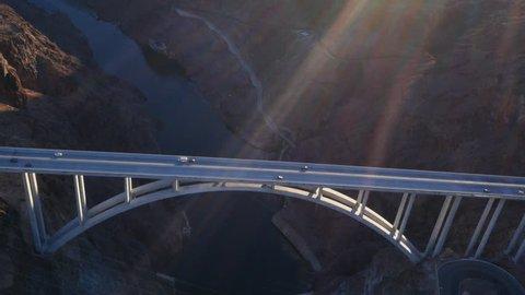 Aerial view of Colorado River Bridge near Hoover Dam