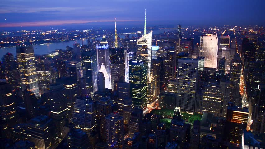 New York City night skyline | Shutterstock HD Video #9003718