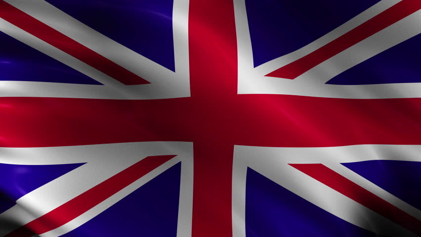4k00104k Ultra HD Waving United Kingdom Flag Background Seamless Loop With Realistic Woven Fabric