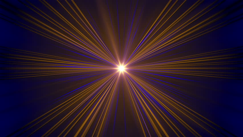 Abstract loop motion background, yellow and blue rays of light | Shutterstock HD Video #9097358