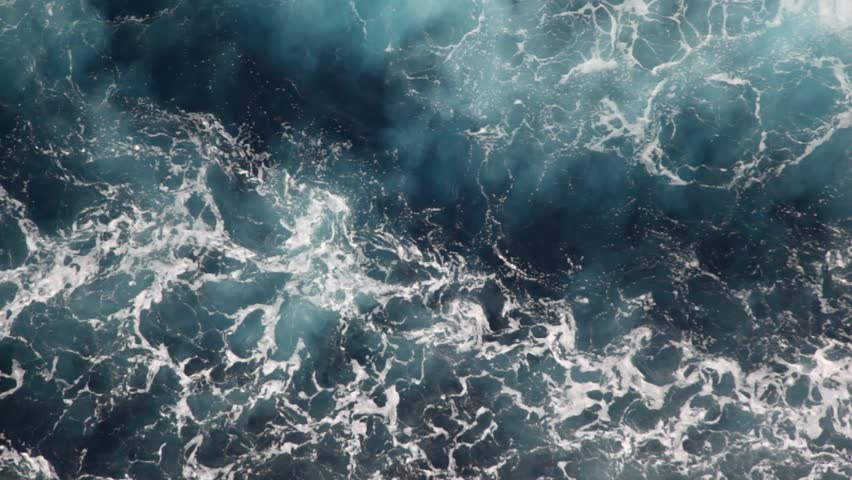 Foam water of sea, top view from moving ship | Shutterstock HD Video #912028